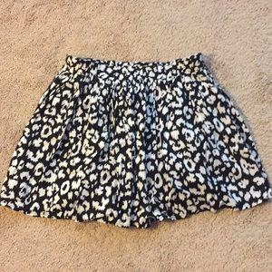 Forever 21 Black and white cheetah circle skirt